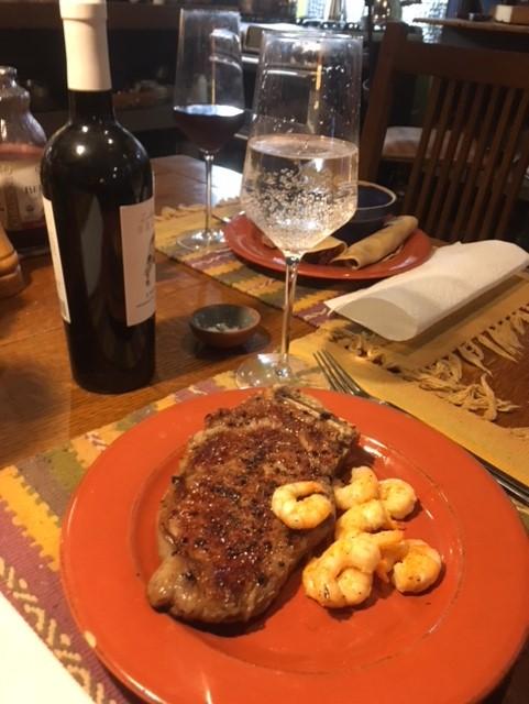 Strip steak and Shrimp