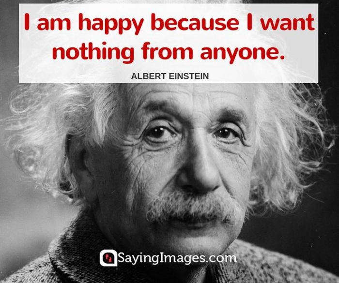 Einstein happiness