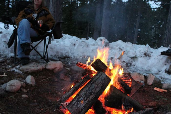 Woodfire Picture snow